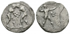 Ancient Greek Coins - Pamphylia - Aspendos - Wrestlers Stater