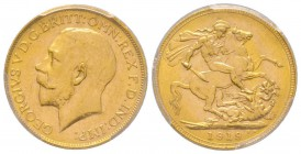 Australia, George V 1910-1936 Sovereign, Perth, 1919 P, AU 7.98 g. 917‰  Ref : Fr. 40, KM#29, Spink 4001  Conservation : PCGS MS62