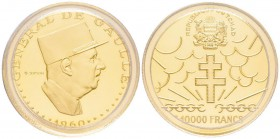 Chad 10.000 Francs, 1970, AU 36 g. 900‰  Ref : Fr. 2, KM#11 Conservation : PCGS PROOF 69 DEEP CAMEO