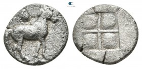 Kings of Macedon. Aigai. Perdikkas II 451-413 BC. Trihemiobol AR