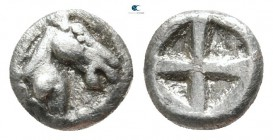 Macedon. The Mendeoi in Pangaion 480-460 BC. 1/48 Stater AR