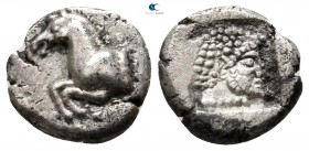 Thraco-Macedonian Region. Uncertain mint circa 500-400 BC. Diobol AR