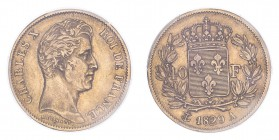 FRANCE. Charles X, 1824-30. 40 Francs, 1829 A, Paris, 12.90 g. Fr-547; Gad-1105; F-544; KM-721.  Bare head of Charles X facing right, legend reads CHA...