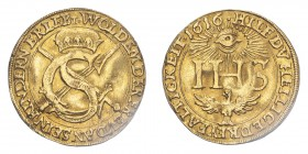 GERMANY: SAXONY. Johann Georg I, 1611-56. Ducat, 1616, Dresden, Original strike. 3.45 g. Kahnt 229; Fb-2642; Schl-995.  In Germany thic coin is called...
