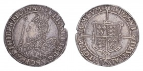 GREAT BRITAIN. Elizabeth I, 1558-1603. Crown, 7th coinage (1601-2), London, 29.70 g. S-2582; North 1982.  Flan cracked to right, otherwise very fine w...