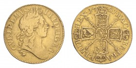 GREAT BRITAIN. William III, 1694-1702. Guinea, 1701, London, 8.27 g. S-3463.  Hairlines and scratches, otherwise fine/about very fine.