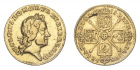 GREAT BRITAIN. George I, 1714-27. 1/4 Guinea, 1718, London, 2.10 g. S-3638; KM-555.  Laureate bust of George I facing right. GEORGIVS·D:G·M·BR·FR:ET:H...