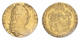 GREAT BRITAIN. George III, 1760-1820. Guinea, 1776, London, Date of US Independence. 8.35 g. S-3728; KM-604.  Fourth laureate bust of George III facin...