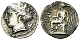 Terina AR Drachm, c. 300 BC 