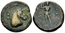 Uncertain mint in Sicily AE21, c. 350-300 BC 