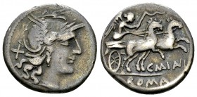 C. Maianus AR Denarius, 153 BC 