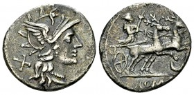 Anonymous AR Denarius, 143 BC 