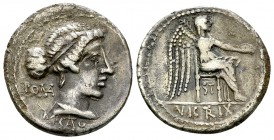 M. Cato AR Denarius, 89 BC 