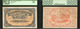 Imperial Chinese Railways 5 Dollar