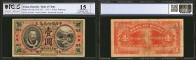 CHINA--REPUBLIC. Bank of China. 1 Dollar, 1913. P-30c. PCGS GSG Choice Fine 15 Details. Washed & Pressed.