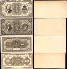 CHINA--REPUBLIC. Bank of China & Imperial Bank of China. 10 & 100 Dollars, 1914-18. P-Various. Archival Proofs. Uncirculated Mounted.