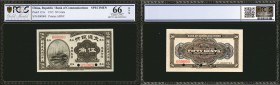 CHINA--REPUBLIC. Bank of Communications. 50 Cents, 1915. P-121s. Specimen. PCGS GSG Gem Uncirculated 66 OPQ.