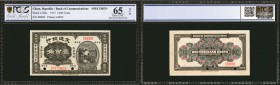 CHINA--REPUBLIC. Bank of Communications. 1000 Cents, 1915. P-122Bs. Specimen. PCGS GSG Gem Uncirculated 65 OPQ.