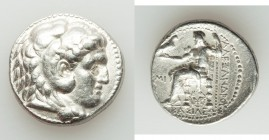 MACEDONIAN KINGDOM. Alexander III the Great (336-323 BC). AR tetradrachm (24mm, 17.07 gm, 8h). XF. Posthumous issue of 'Babylon', under Seleucus I Nic...