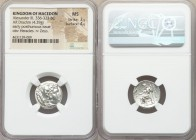 MACEDONIAN KINGDOM. Alexander III the Great (336-323 BC). AR drachm (17mm, 4.29 gm, 11h). NGC MS 3/5 - 4/5. Sardes, ca. 323-322 BC. Head of Heracles r...
