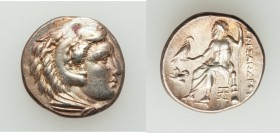 MACEDONIAN KINGDOM. Alexander III the Great (336-323 BC). AR drachm (17mm, 4.24 gm,12h). XF. Late lifetime issue of Abydus(?), ca. 328-323. Head of He...