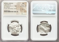 ATTICA. Athens. Ca. 440-404 BC. AR tetradrachm (25mm, 17.18 gm, 9h). NGC MS 5/5 - 2/5, test cut. Mid-mass coinage issue. Head of Athena right, wearing...