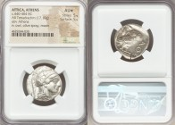 ATTICA. Athens. Ca. 440-404 BC. AR tetradrachm (24mm, 17.19 gm, 7h). NGC AU S 5/5 - 5/5. Mid-mass coinage issue. Head of Athena right, wearing crested...