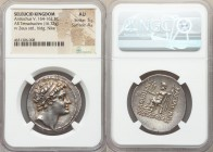 SELEUCID KINGDOM. Antiochus V Eupator (164-162 BC). AR tetradrachm (30mm, 16.72 gm, 1h). NGC AU 5/5 - 4/5. Antioch. Diademed head of Antiochus right; ...