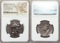 SELEUCID KINGDOM. Demetrius I Soter (162-150 BC). AR tetradrachm (31mm, 16.61 gm, 2h). NGC AU 5/5 - 2/5, scratches. Antioch on the Orontes, dated Sele...