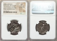 SELEUCID KINGDOM. Philip I Philadelphus (ca. 95/4-76/5 BC). AR tetradrachm (26mm, 15.30 gm, 12h). NGC AU 5/5 - 4/5. Posthumous issue of Antioch on the...