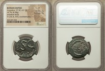 Augustus (27 BC-AD 14). AE imitative as (25mm, 6.28 gm, 9h). NGC Fine 3/5 - 3/5. Ancient imitative of Rome, moneyer issue. Large SC surrounded by blun...