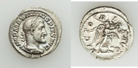 Maximinus I Thrax (AD 235-238). AR denarius (20mm, 2.87 gm, 12h). VF. Rome, AD 235-236. IMP MAXIMINVS PIVS AVG, Laureate, draped, and cuirassed bust o...