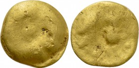 "CENTRAL EUROPE. Boii. GOLD 1/24 Stater (2nd-1st centuries BC). ""Athena Alkis"" type(?)."