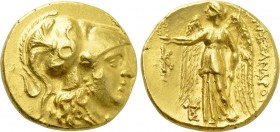 KINGS OF MACEDON. Alexander III 'the Great' (336-323 BC). GOLD Stater. Kallatis.
