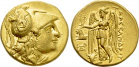 KINGS OF MACEDON. Alexander III 'the Great' (336-323 BC). GOLD Stater. Uncertain mint, possibly Sestos.