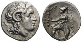 GREEK COINS   Kings of Thrace   Lysimachos, 305-281 BC. Drachm (Silver, 18mm, 4.29g 12), Ephesos, c. 294-287. Head of the deified Alexander to right,...