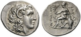 GREEK COINS   Kings of Thrace   Lysimachos, 305-281 BC. Drachm (Silver, 19mm, 4.33g 12), Ephesos, c. 294-287. Head of the deified Alexander to right,...