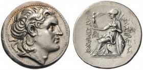 GREEK COINS   Kings of Thrace   Lysimachos, 305-281 BC. Tetra­drachm (Silver, 31mm, 17.24g 5), Amphipolis, 288/7-282/1. Diademed head of Alexander th...