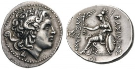 GREEK COINS   Kings of Thrace   Lysimachos, 305-281 BC. Tetradrachm (Silver, 30mm, 16.98g 8), Lysimacheia, probably early posthumous, c. 280-270. Dia...