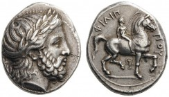 GREEK COINS   Kings of Macedon   Philip II, 359-336 BC. Tetrad­rachm (Silver, 25mm, 14.48g 12), Pella, c. 336/5-329/8. Laureate head of Zeus to right...