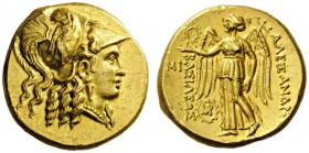 GREEK COINS   Kings of Macedon   Alexander III  'the Great', 336-323 BC. Stater (Gold, 18mm, 8.59g 5), struck under Seleukos I, Babylon, c. 311-305. ...