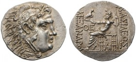 GREEK COINS   Kings of Macedon   Alexander III  'the Great', 336-323 BC. Tetradrachm (Silver, 30mm, 16.72g 12), Odes­sus, c. 125-70. Head of Herakles...