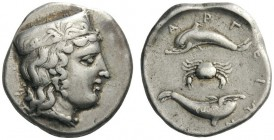 GREEK COINS   Argolis   Argos, c. 370-350 BC. Stater (Silver, 23mm, 12.19g 12). Head of Hera to right, wearing a stephane or­namented with palmettes,...