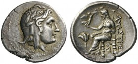 GREEK COINS   Paphlagonia   Amastris, c. 285-250 BC. Stater (Sil­ver, 24mm, 9.57g 12). Head of Mithras to right wearing Persian mitra adorned with la...