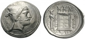 GREEK COINS   Persis   Baydād (Bagadat), governor, c. 280 BC. Tet­radrachm (Silver, 20mm, 16.30g 7), Persepolis. Dia­demed and bearded head of Baydād...
