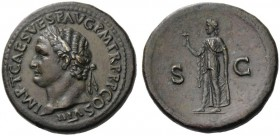 ROMAN AND BYZANTINE COINS   Titus, 79-81. Sestertius (Orichalcum, 35mm, 29.78g 7), Rome, 80-81. IMP T CAES VESP AVG P M TR P P P COS VIII Laureate he...