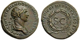 ROMAN AND BYZANTINE COINS   Caesarea, Cappadocia. Trajan, 98-117. As (Orichalcum, 22mm, 8.35g 6), Rome, February 116 - early August 117. IMP CAES NER...