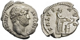 ROMAN AND BYZANTINE COINS   Hadrian, 117-138. Denarius (Silver, 17mm, 3.53g 6), Rome, 137. HADRIANVS AVG COS III P P Bare head of Hadrian to right. R...