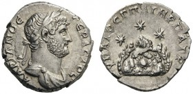 ROMAN AND BYZANTINE COINS   Caesaraea, Cappadocia. Hadrian, 117-138. Drachm (Silver, 17mm, 3.18g 7), 121-122. AΔRIANOC CEBACTOC Laureate and draped b...