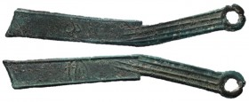 Warring States, State of Yan, 400 - 220 BC, AE Nei Series Knife